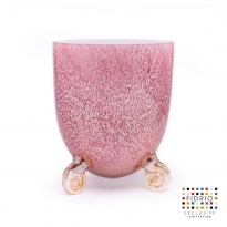 - Fidrio Vase Escargot Small H:22cm Ancient Pink