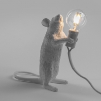 - Seletti Mouse Standing Tafellamp Wit