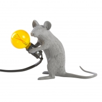 - Seletti Mouse Lamp Mac Tafellamp Grijs