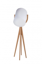 - Flam & Luce LMP Shooting Vloerlamp Hout H:175cm