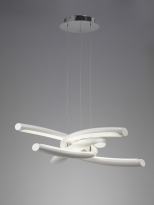 - Mantra Knot Hanglamp Led 48W Direct/Indirect Wit