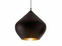- Tom Dixon Beat Stout Hanglamp Zwart/Messing