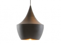 - Tom Dixon Beat Shade Fat Hanglamp Zwart/Messing