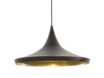 - Tom Dixon Beat Wide Hanglamp Zwart/Messing